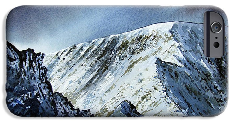 Mountain IPhone 6 Case featuring the painting Striding Edge On Helvellin by Paul Dene Marlor