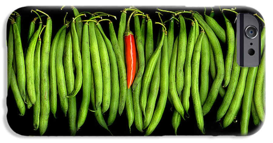 Culinary IPhone 6 Case featuring the photograph Stringbeans And Chilli by Christian Slanec