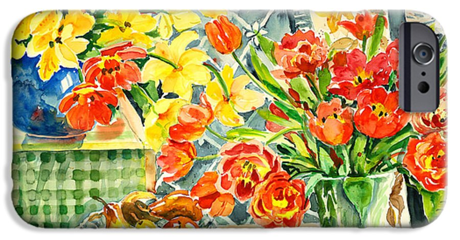 Watercolor IPhone 6 Case featuring the painting Studio Still Life by Alexandra Maria Ethlyn Cheshire