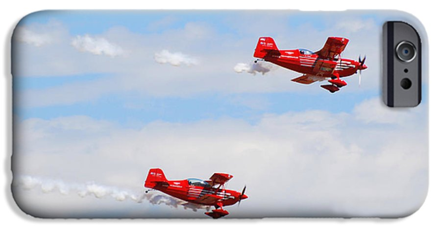 Stunts IPhone 6 Case featuring the photograph Stunt Pilots by Larry Keahey