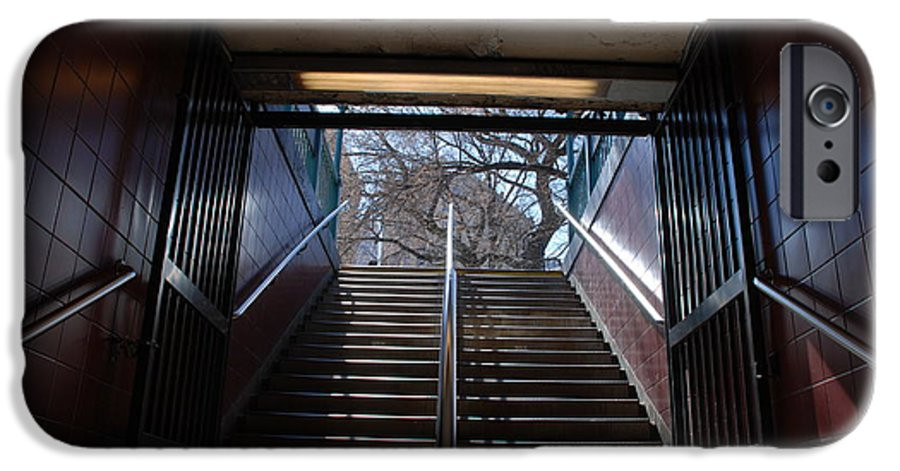 Pop Art IPhone 6 Case featuring the photograph Subway Stairs To Freedom by Rob Hans
