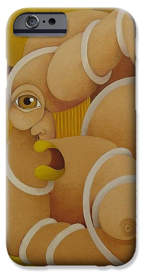 Sacha IPhone 6 Case featuring the painting Suffering Woman 2003 by S A C H A - Circulism Technique