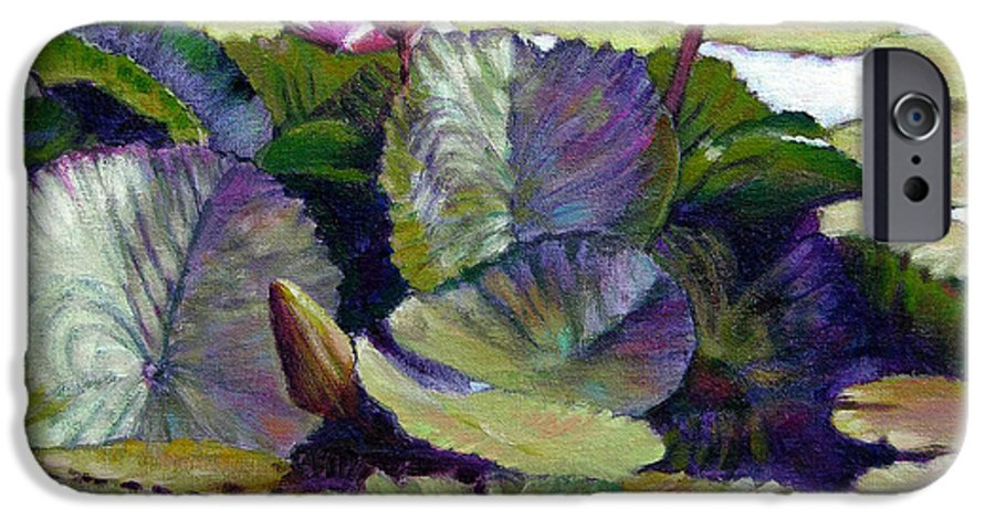 Water Lilies IPhone 6 Case featuring the painting Summer Breeze by John Lautermilch