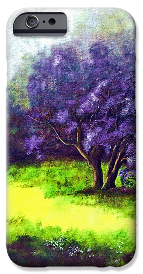 Fine Art Print IPhone 6 Case featuring the painting Summer Mist by Patricia Griffin Brett