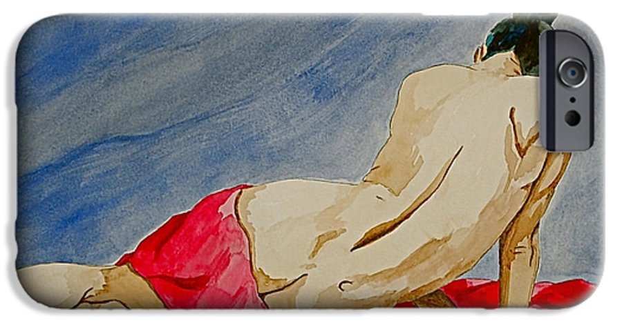 Nudes Red Cloth IPhone 6 Case featuring the painting Summer Morning 2 by Herschel Fall