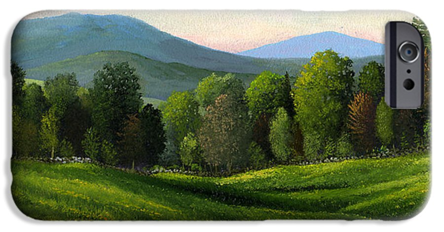 Landscape IPhone 6 Case featuring the painting Summers Ending by Frank Wilson
