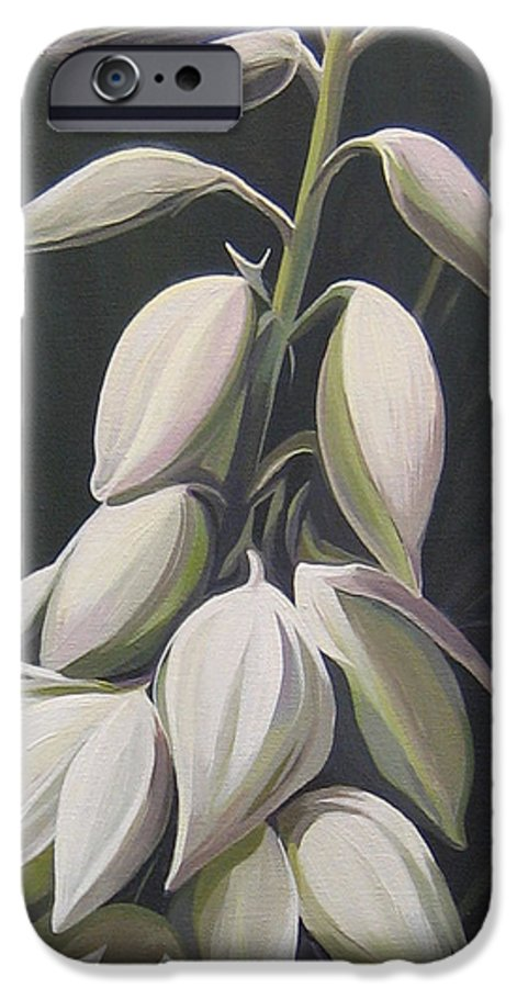 Yucca Plant IPhone 6 Case featuring the painting Summersilver by Hunter Jay