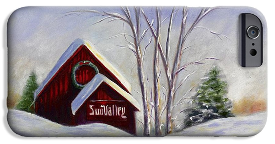 Landscape White IPhone 6 Case featuring the painting Sun Valley 1 by Shannon Grissom