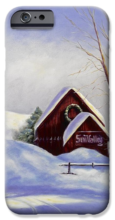 Landscape IPhone 6 Case featuring the painting Sun Valley 2 by Shannon Grissom