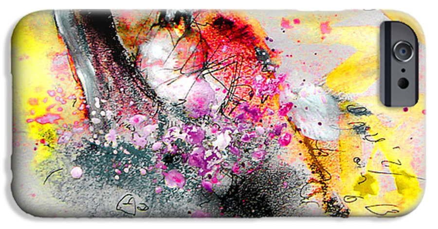 Pastel Painting IPhone 6 Case featuring the painting Sunday By The Tree by Miki De Goodaboom