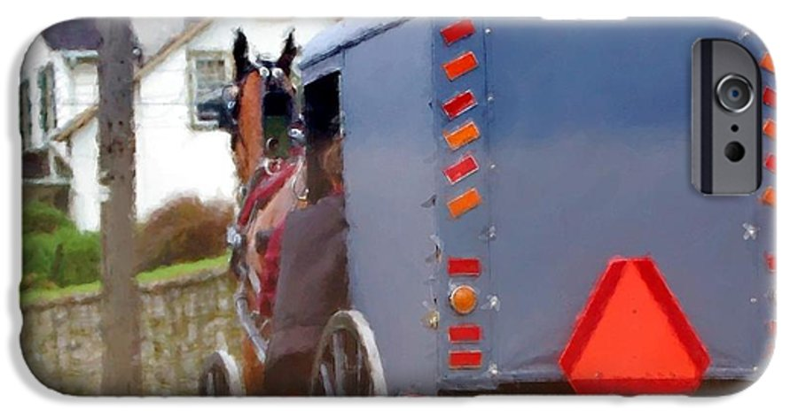 Amish IPhone 6 Case featuring the photograph Sunday Courting by Debbi Granruth
