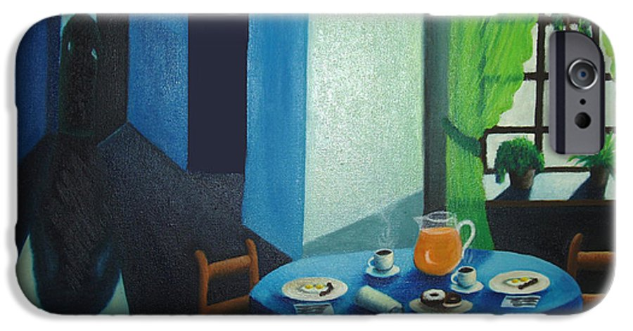Breakfast IPhone 6 Case featuring the painting Sunday Morning Breakfast by Nancy Mueller