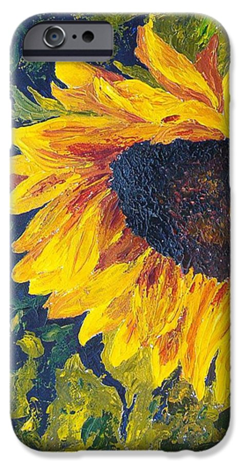 IPhone 6 Case featuring the painting Sunflower by Tami Booher