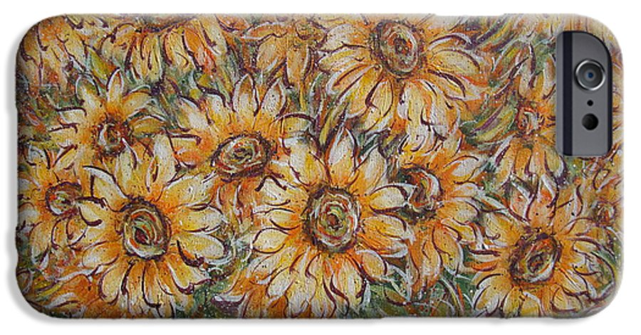Flowers IPhone 6 Case featuring the painting Sunlight Bouquet. by Natalie Holland