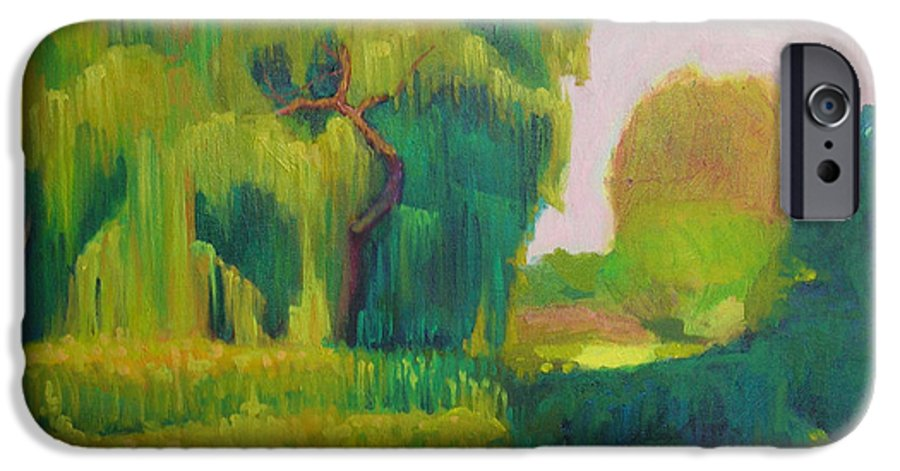Landscape IPhone 6 Case featuring the painting Sunny Day Indian Boundary Park by David Dozier