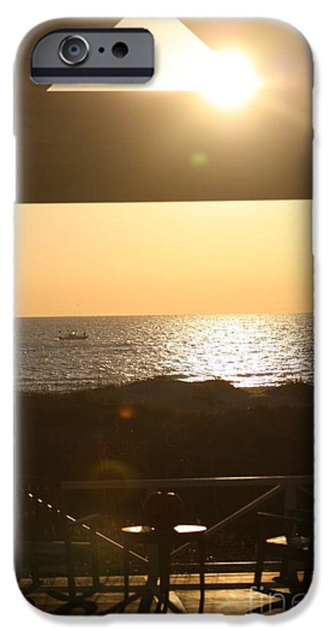 Sunrise IPhone 6 Case featuring the photograph Sunrise Through The Pavilion by Nadine Rippelmeyer