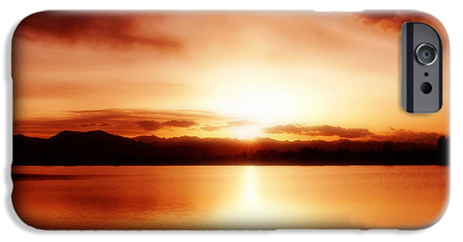 Lake IPhone 6 Case featuring the photograph Sunset by Marilyn Hunt