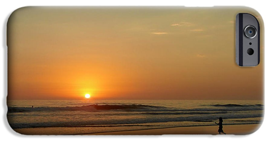 Pacific IPhone 6 Case featuring the photograph Sunset Over La Jolla Shores by Christine Till
