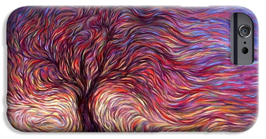 Tree IPhone 6 Case featuring the painting Sunset Tree by Hans Droog