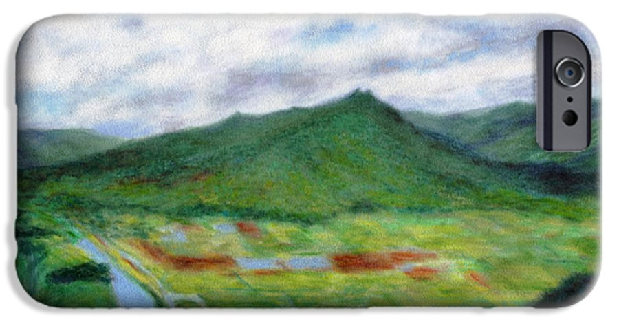 Rainbow Colors Pastel IPhone 6 Case featuring the painting Sunspot by Kenneth Grzesik