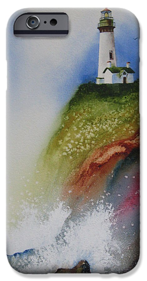 Lighthouse IPhone 6 Case featuring the painting Surfside by Karen Stark