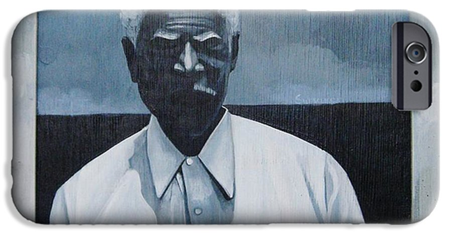 Man IPhone 6 Case featuring the painting Survivor James by Joyce Owens