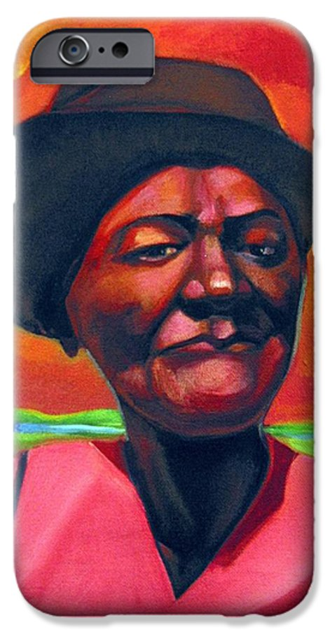 African IPhone 6 Case featuring the painting Survivor Spirit Mollie by Joyce Owens