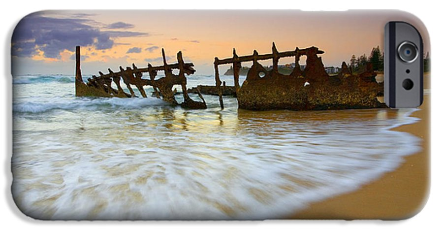 Shipwreck IPhone 6 Case featuring the photograph Swallowed By The Tides by Mike Dawson