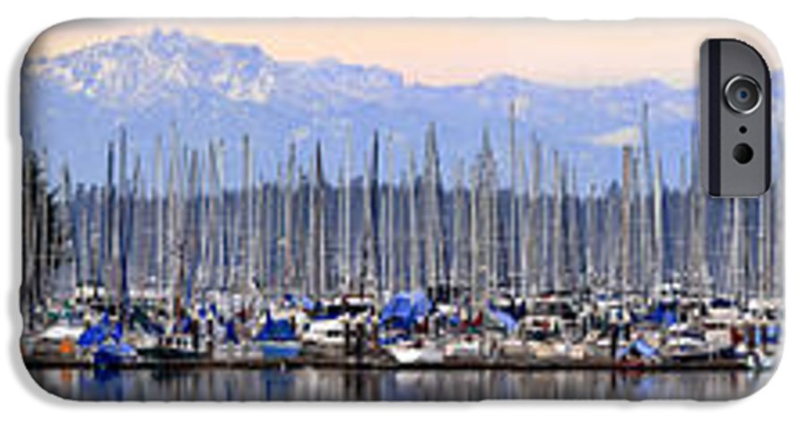 Landscape IPhone 6 Case featuring the photograph Swantown Marina Olympia Wa by Larry Keahey