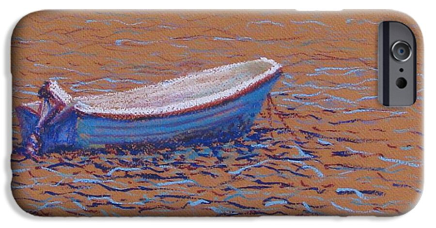 Boat IPhone 6 Case featuring the pastel Swedish Boat by Art Nomad Sandra Hansen