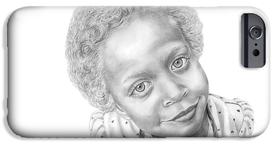 Portrait IPhone 6 Case featuring the drawing Sweet Eyes by Murphy Elliott