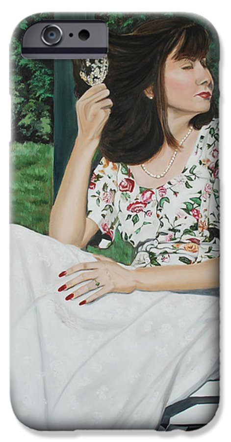 Garden IPhone 6 Case featuring the painting Sweet Spring Day by Margaret Fortunato