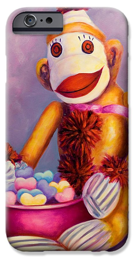 Heart IPhone 6 Case featuring the painting Sweetheart Made Of Sockies by Shannon Grissom