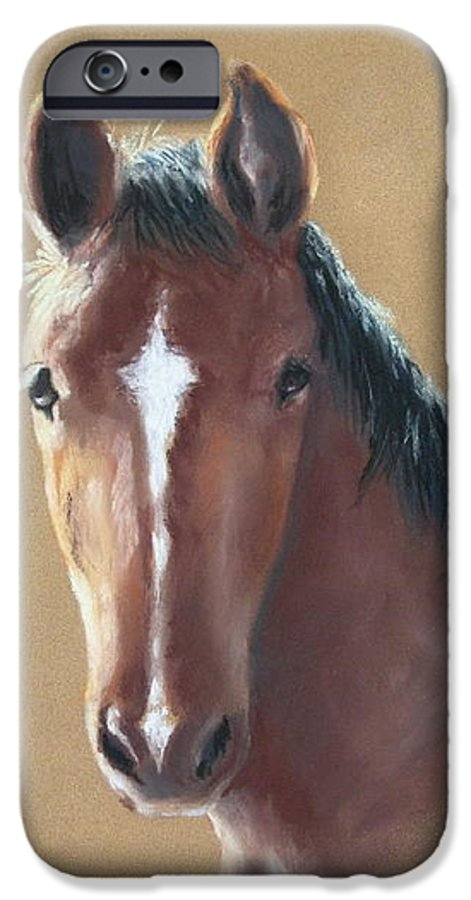 Horse IPhone 6 Case featuring the painting Sweetie by Carol Mueller