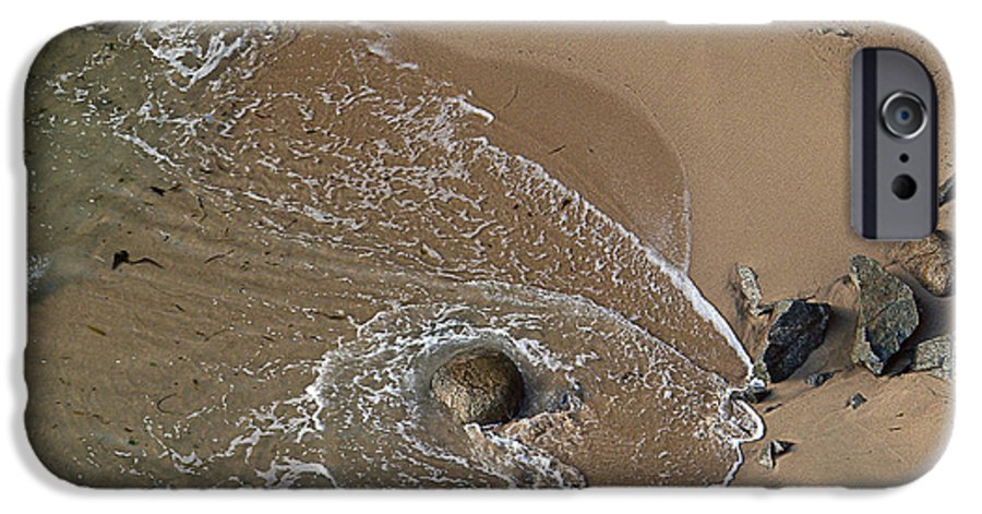 Big Sur IPhone 6 Case featuring the photograph Swirling Surf And Rocks by Charlene Mitchell