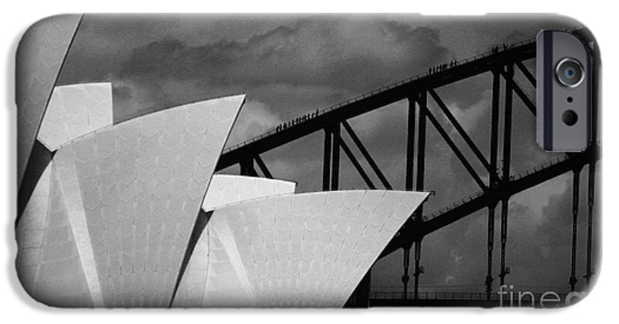 Sydney Opera House IPhone 6 Case featuring the photograph Sydney Opera House With Harbour Bridge by Sheila Smart Fine Art Photography