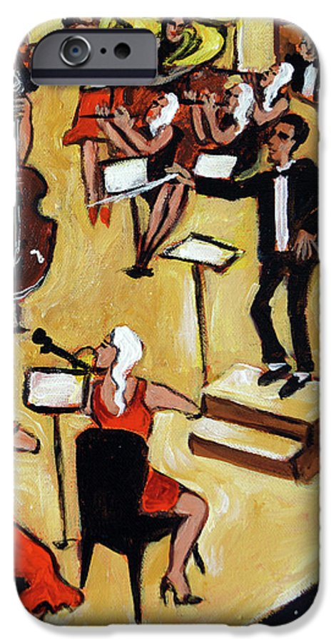 Carnegie Hall Orchestra IPhone 6 Case featuring the painting Symphony by Valerie Vescovi