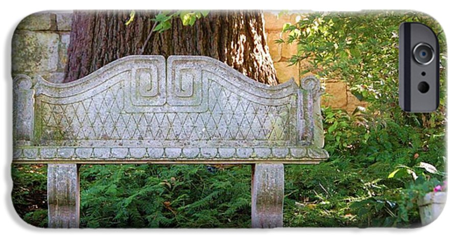 Bench IPhone 6 Case featuring the photograph Take A Break by Debbi Granruth
