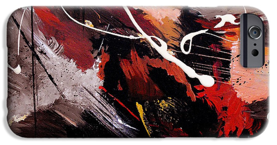 Abstract IPhone 6 Case featuring the painting Take To Heart by Ruth Palmer
