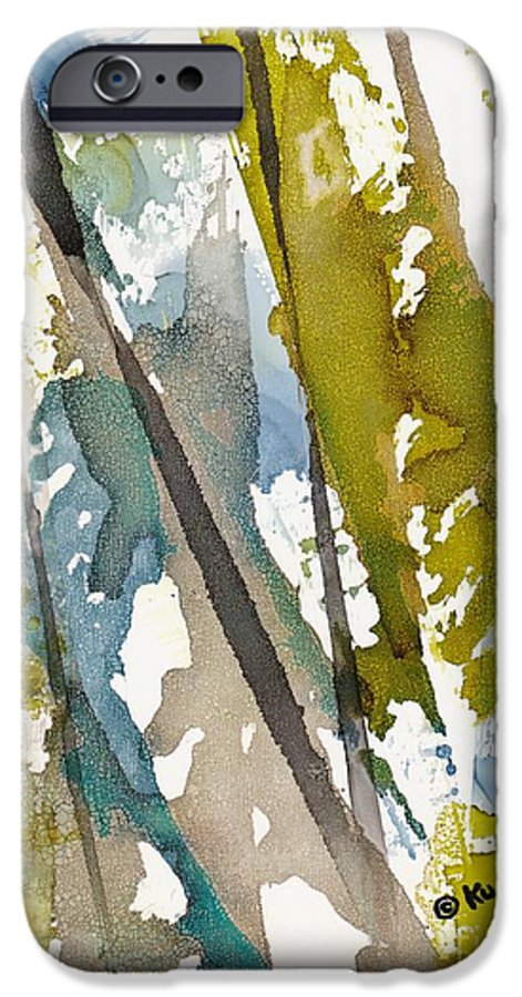 Forest IPhone 6 Case featuring the painting Tall Timber by Susan Kubes
