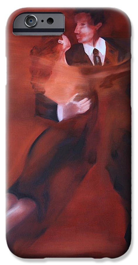 Tango IPhone 6 Case featuring the painting Tango No.1 by Harri Spietz