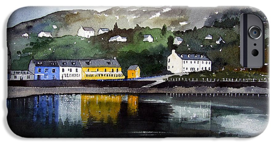 Scottish Fishing Harbour IPhone 6 Case featuring the painting Tarbert Reflections by Paul Dene Marlor