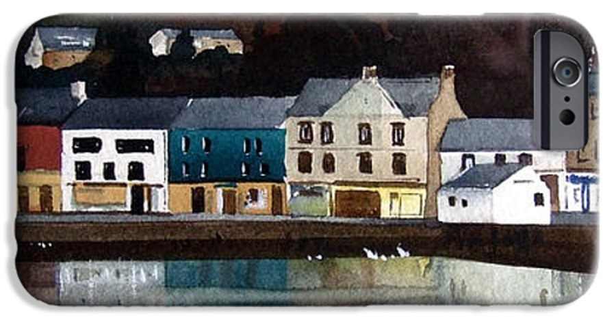 Landscape IPhone 6 Case featuring the painting Tarbert Reflections by Paul Dene Marlor
