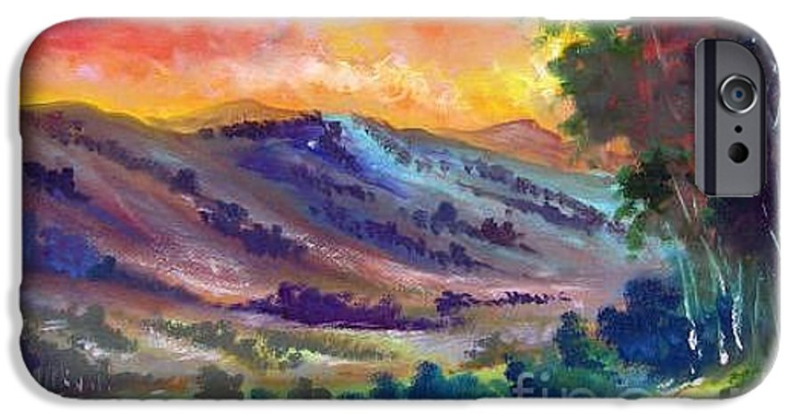 Landscape IPhone 6 Case featuring the painting Tarde De Sol by Leomariano artist BRASIL