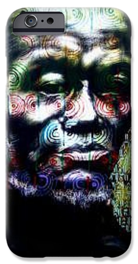 Portrait IPhone 6 Case featuring the mixed media Tattoo by Chester Elmore