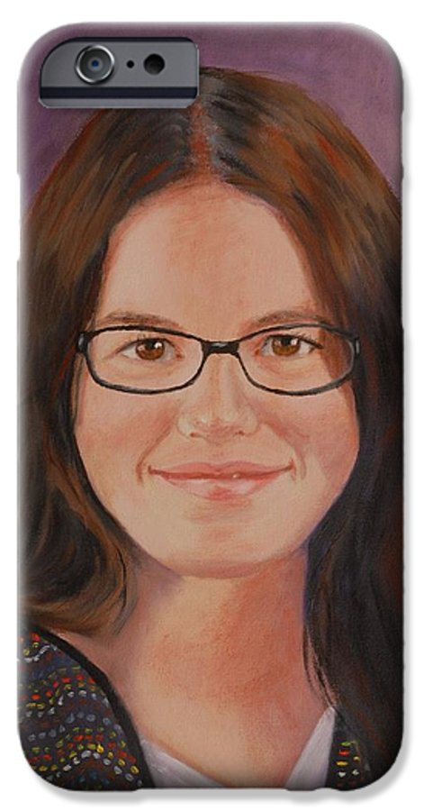 Portrait IPhone 6 Case featuring the painting Taylor Snow by Quwatha Valentine