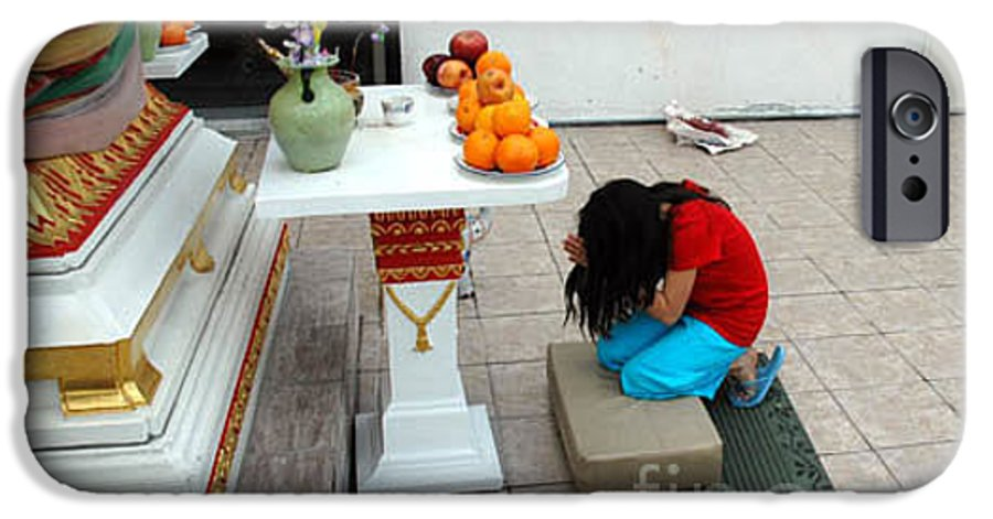 Child IPhone 6 Case featuring the photograph Temple Prayer by Michael Ziegler