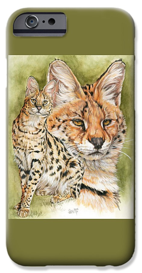 Serval IPhone 6 Case featuring the mixed media Tempo by Barbara Keith
