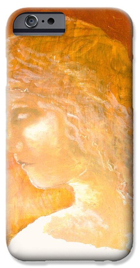 Angel IPhone 6 Case featuring the painting Tender Mercy by J Bauer
