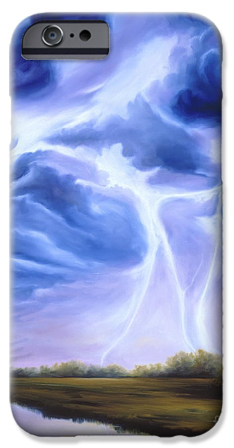 Marsh IPhone 6 Case featuring the painting Tesla by James Christopher Hill